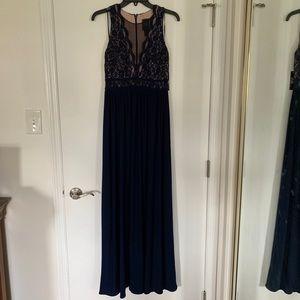 Nightway Women's Bodice Power Mesh Gown NWT